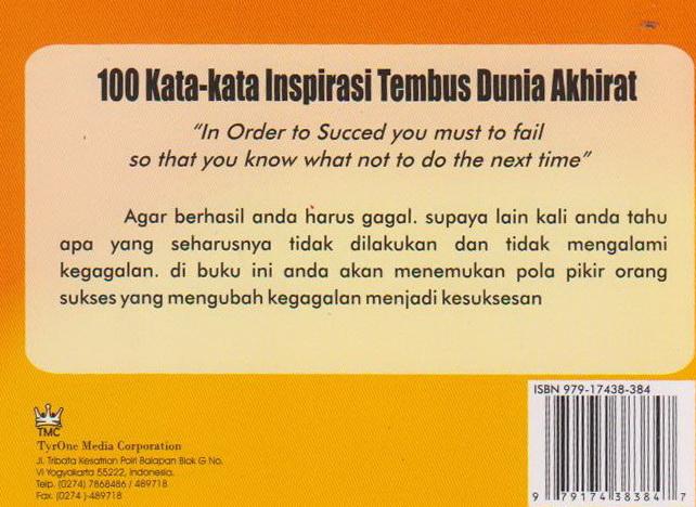 100 Kata-Kata Inspirasi Tembus Dunia Akhirat   - Toko Buku Online ...
